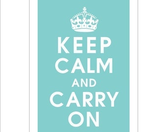 Keep Calm and Carry On, 13x19 Poster (PARIS BLUE featured) Buy 3 get 1 FREE keep calm art keep calm print