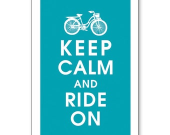 Keep Calm and Ride On, Vintage Bicycle -13x19 Poster (Featured in Oceanic Waves) Buy 3 and get 1 FREE