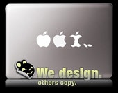 Mac Evolution White - MacBook decal laptop vinyl sticker