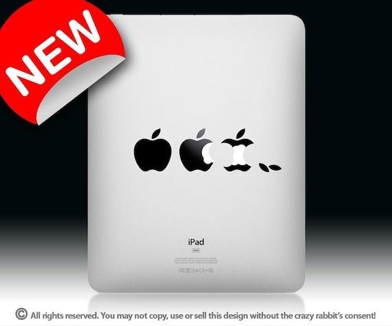 iPad Who ate my mac - Humorous decal for mac, funny pad vinyl sticker