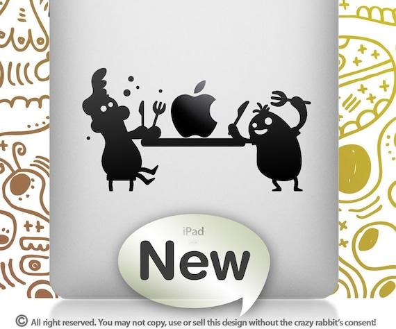 iPad APPLE FEAST Black - Vinyl sticker, Mac pad decal