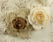 The Knittie Collections - Cashew Crochet Flowers
