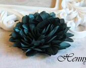 New to the shop: Hunter Green  - Dahlia Silk Flower Millinery for Bridal Sashes, Fascinator or Hat Design, or Home Decor