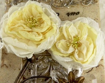 Parfait Collection - Butter Cream Silk Fabric Flowers
