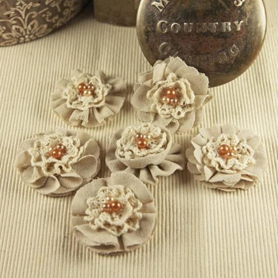 Prima Flowers: Elysa - Wheat Fabric Flowers