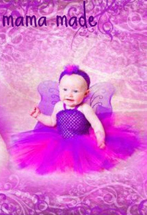 Purple and Fuchsia Tutu Dress with matching hair accessory,pink and purple tutu dress,girls tutu, flower girl tutu,birthday tutu,full tutu
