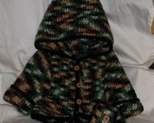 Camo Hooded Sweater and Booties-6 mo.