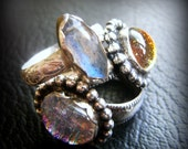 SALE-Blue Flash Marquise Ring