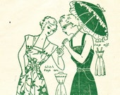 RESERVED for the IllumunatedNeedle  ----Vintage 1940s pattern Dress & Detachable Yoke RARE Plus Size Bust 42 - Still sealed in packet