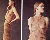 70s Vintage Crochet Pattern Boho Pants Tunic Dress ORIGINAL not PDF copy