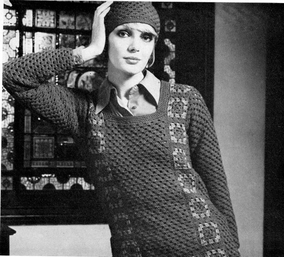 1970s Vintage Boho Crochet Patterns Booklet Patons 357 from Australia ORIGINALS NOT PDF