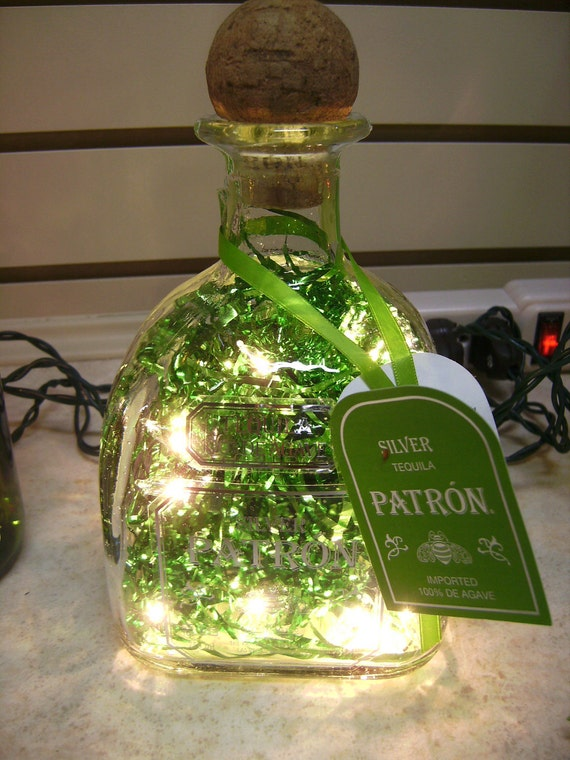 Items similar to lighted liquor wine bottle out of