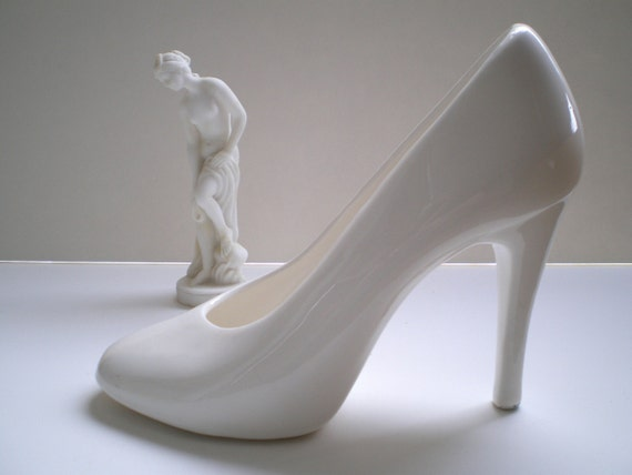 size ceramic high heel planter or figurine by tasticlife