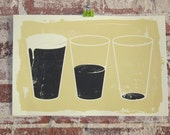 Lessons in Beer Drinking - Limited Edition Silkscreen Art Print