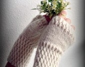 Fingerless Gloves -YOU PICK COLOR-  hand knit