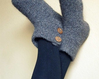 Hand Felted Wool Slippers / Boot Liners / Socks -You Pick Color
