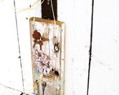 Antique Archictectural Wall SHelf Sconce Flower Vase Key Holder Altered Folk Art. Beach. Lake House. Country Cottage Charm
