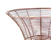 Vintage Egg Basket.Metal flower basket.Farmhouse Industrial Storage.Rustic Primitive copper basket from 3vintagehearts.