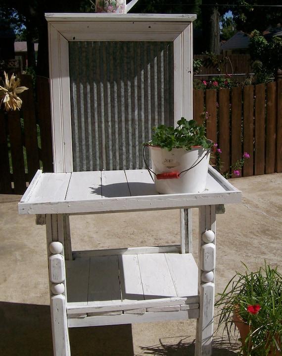 Shabbychic Vintage Garden Potting Table Bench By
