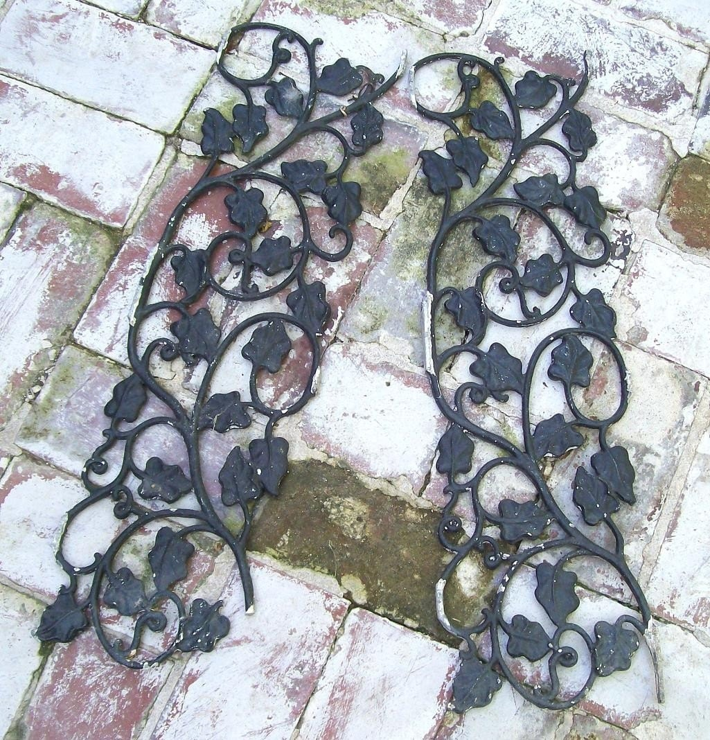 Garden Shed Window Shutters Shabby Chic Wrought Iron Ivy Leaf