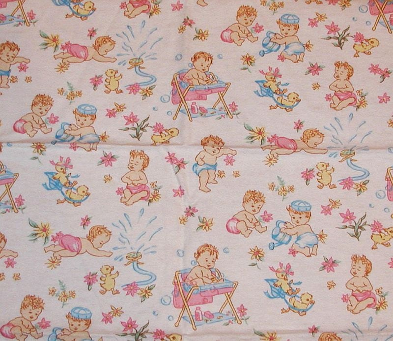 vintage flannel baby fabric 30 39 39 x 21 39 39 by haoli on etsy