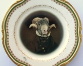 SALE ITEM - Sir Ovis Aries - Altered Antique Plate