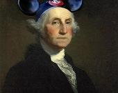 Mouseketeer Washington - 8 X 10 Fine Art Print
