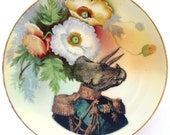 Admiral Triceratops Portrait Plate - Altered Antique Plate