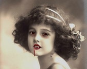 Lilith the Vampire Girl - Altered Image - 8 X 10 Art Print - BeatUpCreations