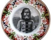 JoJo The Dog Faced Boy - Altered Vintage Plate