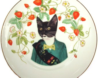 Kitty Scout Portrait Plate 7.5""