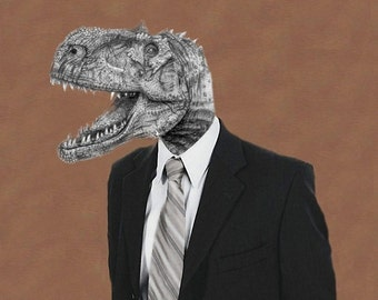 Mr. Tyrannosaurus Portrait - 8 X 10 Fine Art Print