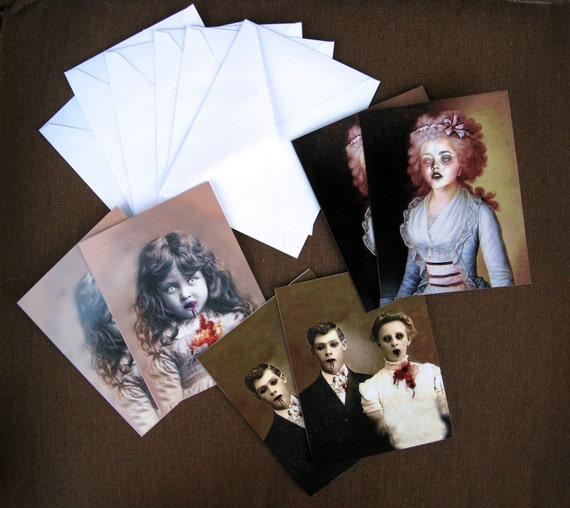 Zombie Series - Art Notecard Set, Pack of 6