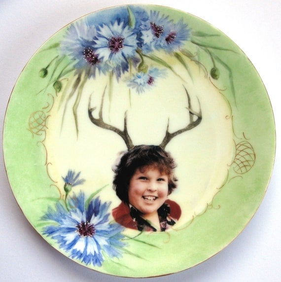 Deer Ol' Chunk Portrait  - Altered Antique Plate