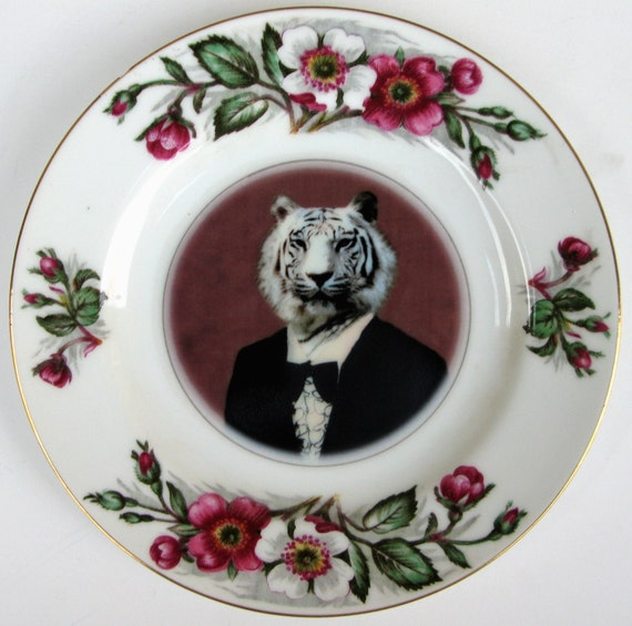 Timeless Tiger - Altered Vintage Plate