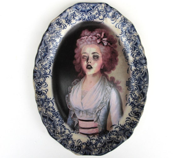Zombie Contessa - Altered Antique Plate