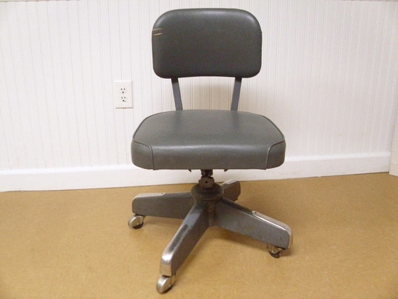 Vintage Mid Century Industrial Office Chair
