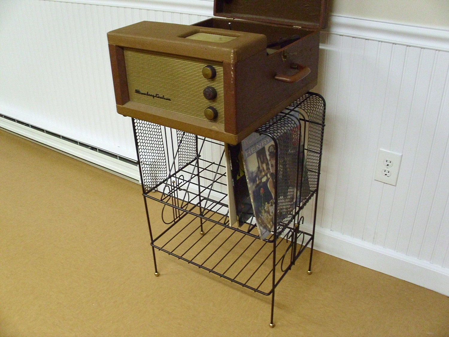 Vintage Eames Era Record Player Stand