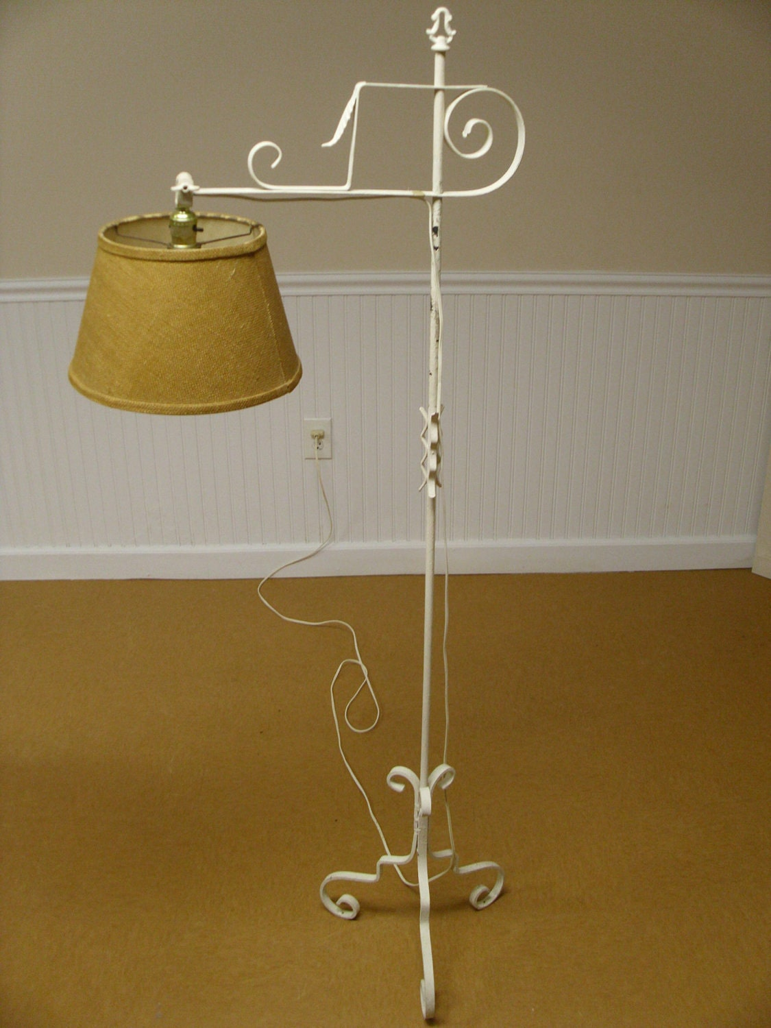 vintage wrought iron floor lamp. Black Bedroom Furniture Sets. Home Design Ideas