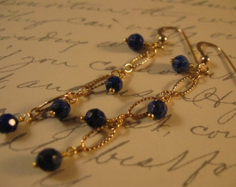 Gemstone Dangle Earrings,gemstone earrings, gold earrings, lapis earrings, dangle earrings, gemstone jewelry, lapis lazuli, drop earrings