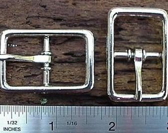 CENTER BAR BUCKLE Buckles 3/4 inch Nickel Finish 16 pcs
