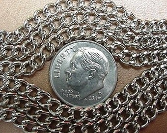 CURB CHAIN WELDED Jewelry Size 10 Foot Length Nickel