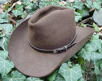 WESTERN HATBAND Hat Band BLACK Snake Skin w 3 Pc Buckle