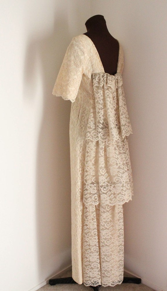 3 Tiered Lace Wedding Dress : Emma domb s wedding gown three tiered dress