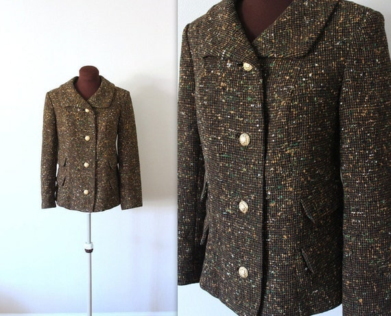 1950s Pendleton Jacket /  Boucle Waistcoat  / 1960s Blazer (m)