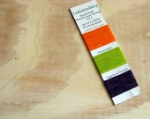 Set of 3 Colors Hand Dyed Waxed Linen Thread 35/3