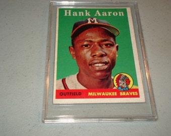 1958 Topps Baseball Card  Hank Aaron
