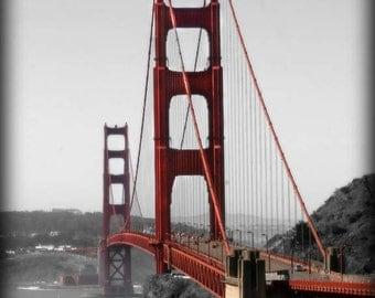 Golden Gate Bridge photo, San Francisco, 8x12 art print, Bridge art, Christmas sale