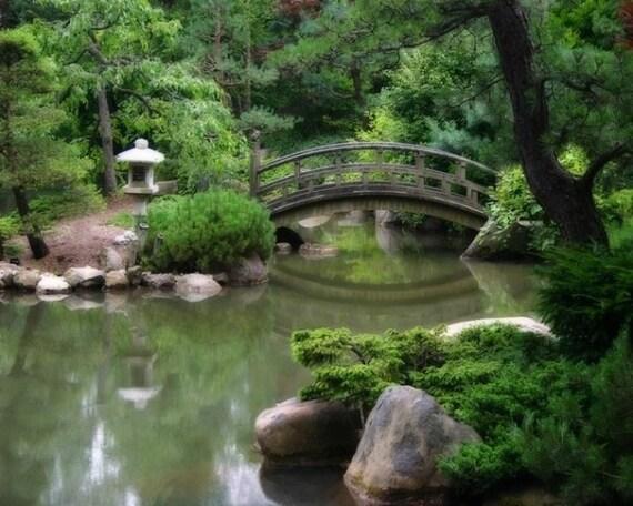 Items similar to japanese art landscape photography wall for Koi pond japanese matting