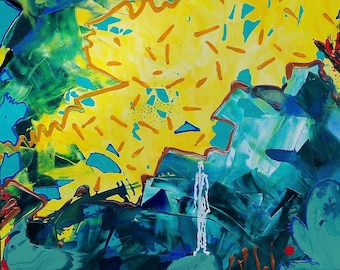 Wave Water Figures abstract painting